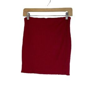 Better Be Ribbed Knit Bodycon Mini Stretch Skirt